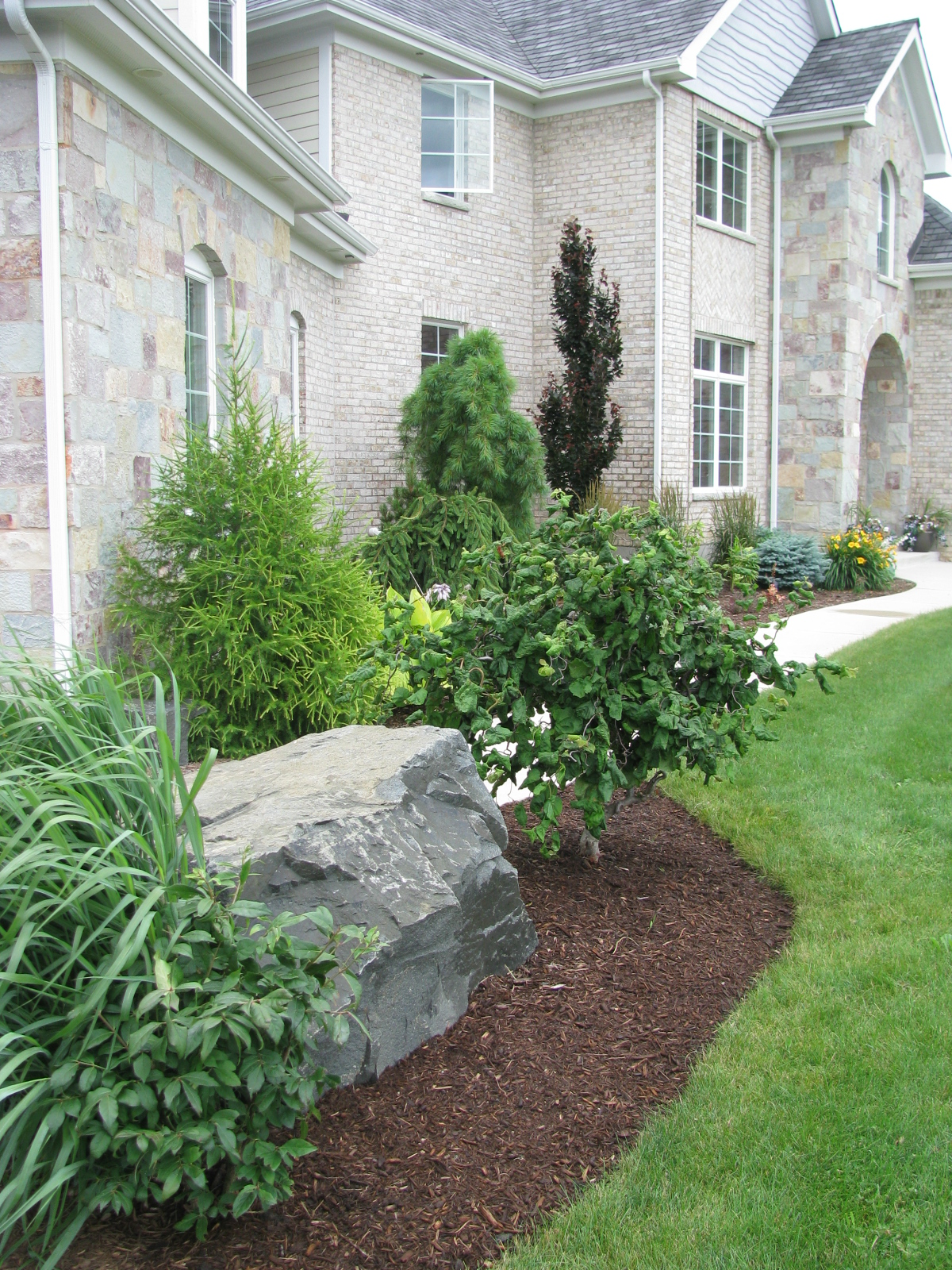 Accent Stone With Plantings
