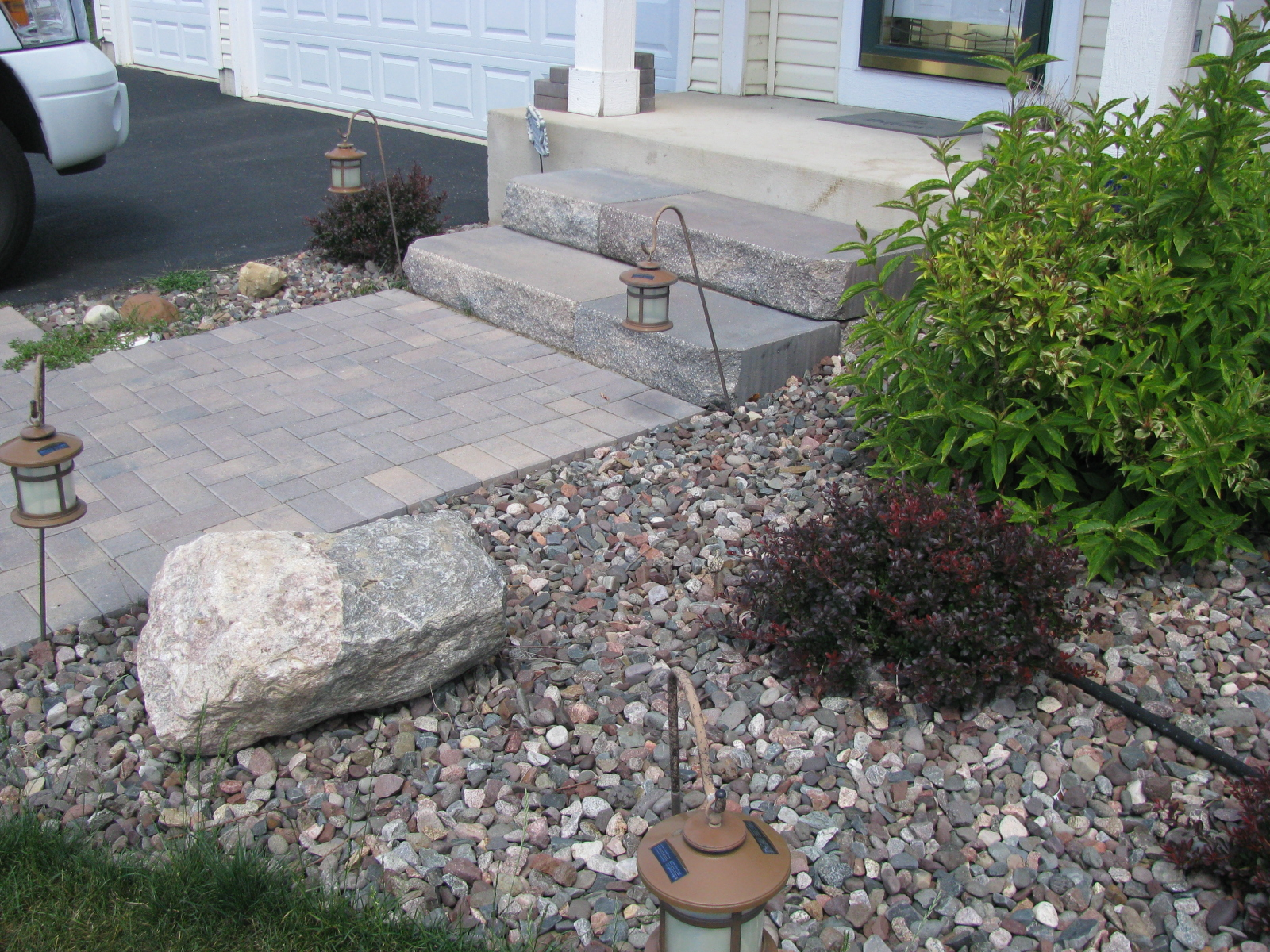 Accent Stones With Plantings