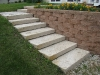 Block Retaining Wall With Stairs